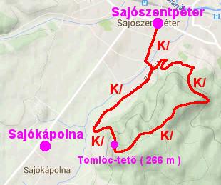 sajószentpéter térkép Bükk hegység   Kék átló tanösvények sajószentpéter térkép
